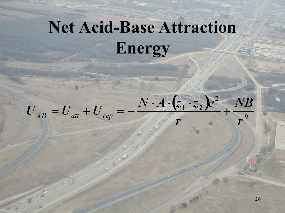 26 Net Acid-Base Attraction Energy