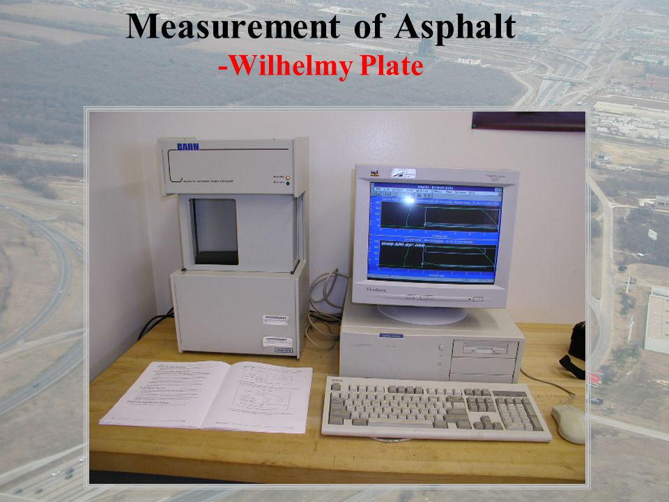 Measurement of Asphalt -Wilhelmy Plate