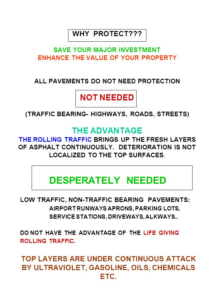 HOW TO PROTECT ASPHALT PAVEMENTS SEALCOAT !!!.