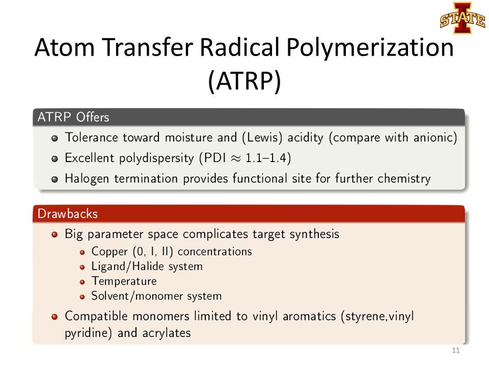 Atom Transfer Radical Polymerization (ATRP) 11