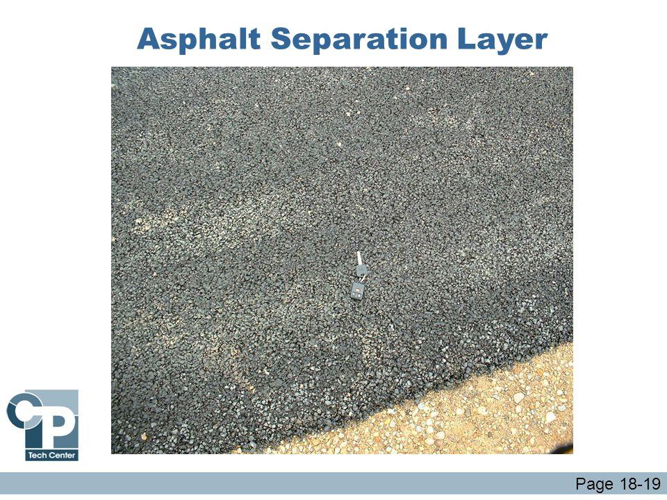 Asphalt Separation Layer Page 18-19