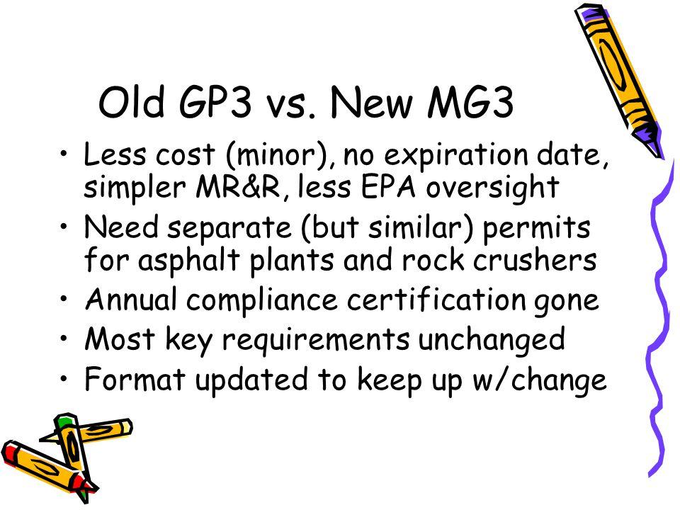 Old GP3 vs.