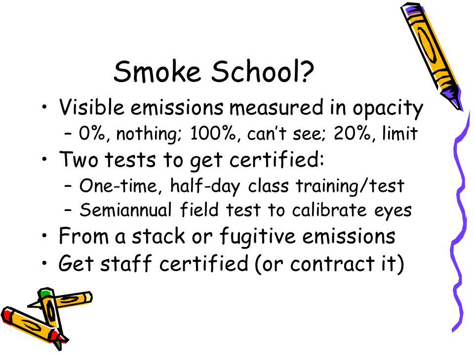 Smoke School.