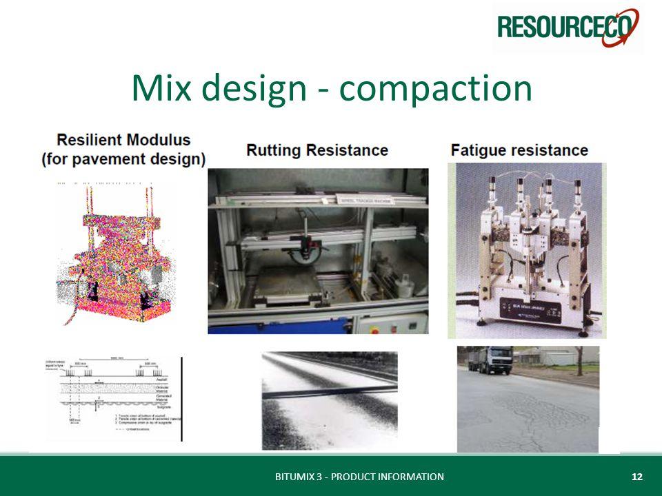 Mix design - compaction BITUMIX 3 - PRODUCT INFORMATION12