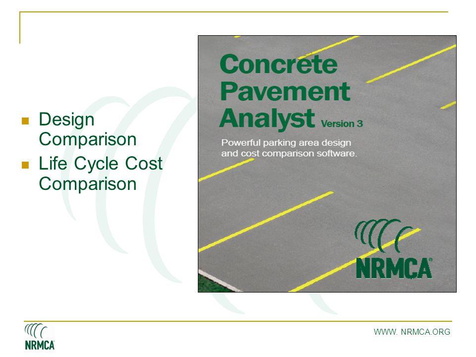 WWW. NRMCA.ORG Design Comparison Life Cycle Cost Comparison