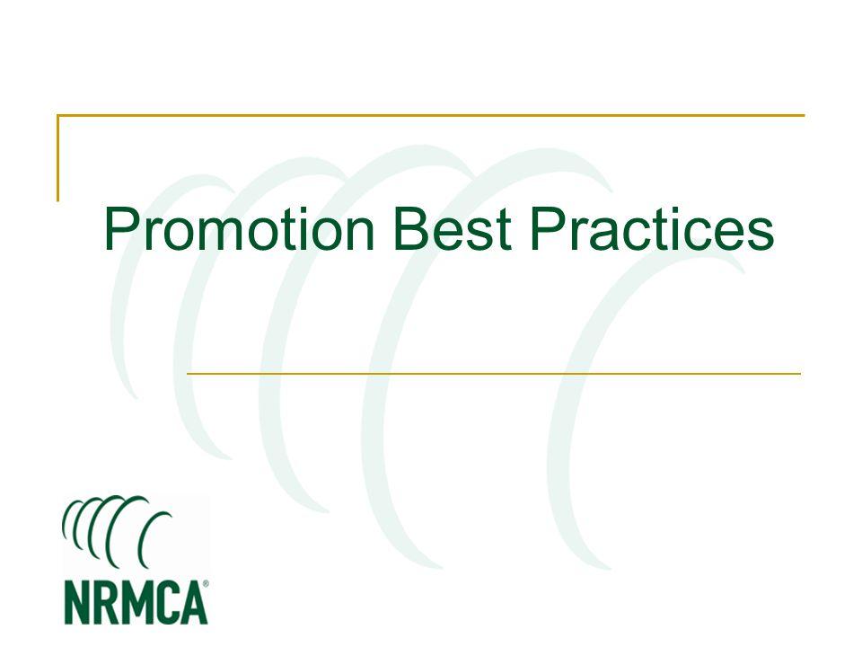 Promotion Best Practices