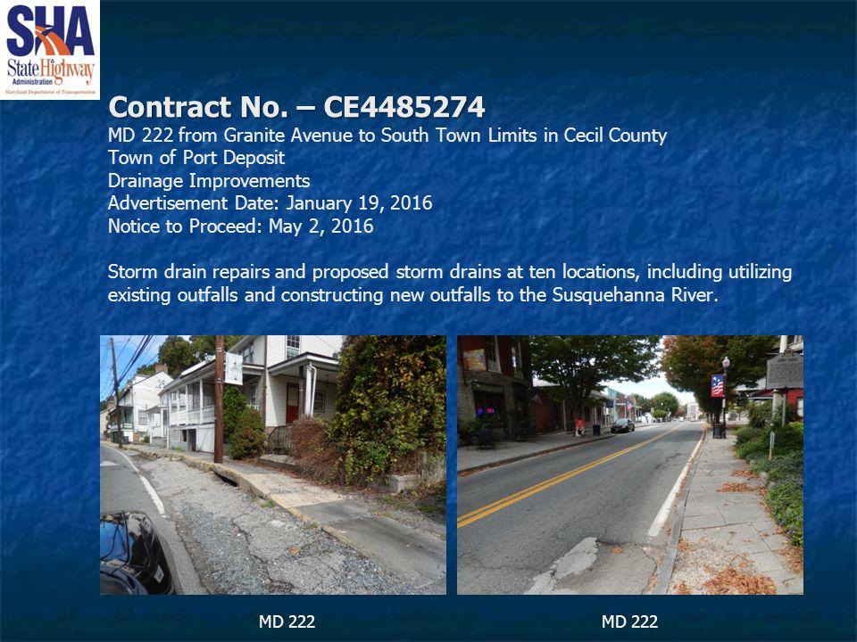Contract No. – CE4485274 Contract No.