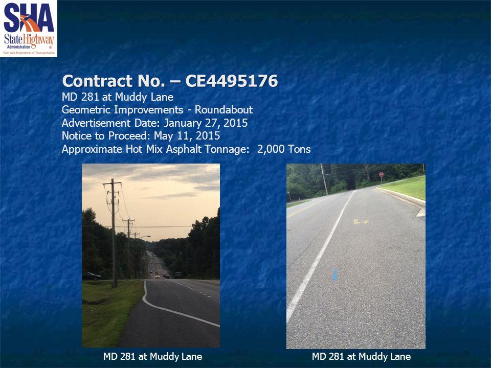 Contract No. – CE4495176 Contract No.