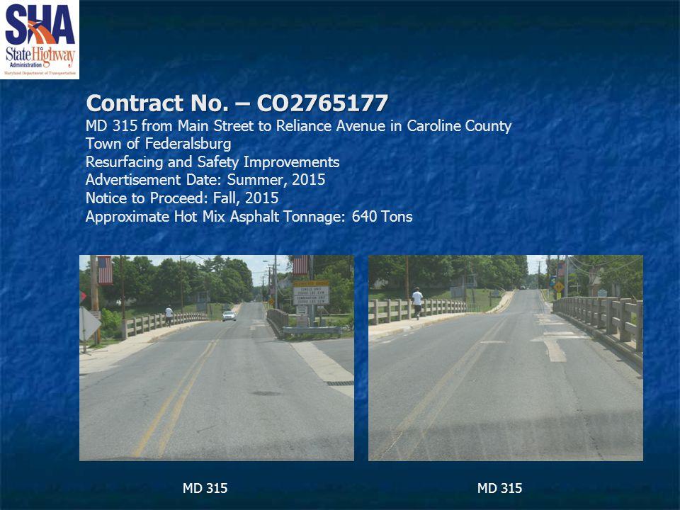 Contract No. – CO2765177 Contract No.