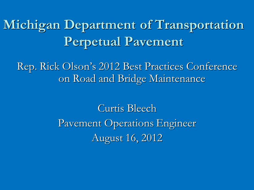 Michigan Department of Transportation Perpetual Pavement Rep.