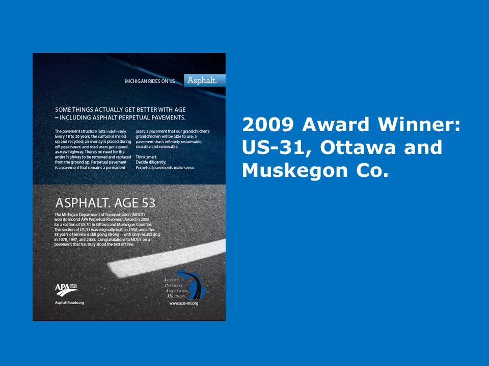 2009 Award Winner: US-31, Ottawa and Muskegon Co.