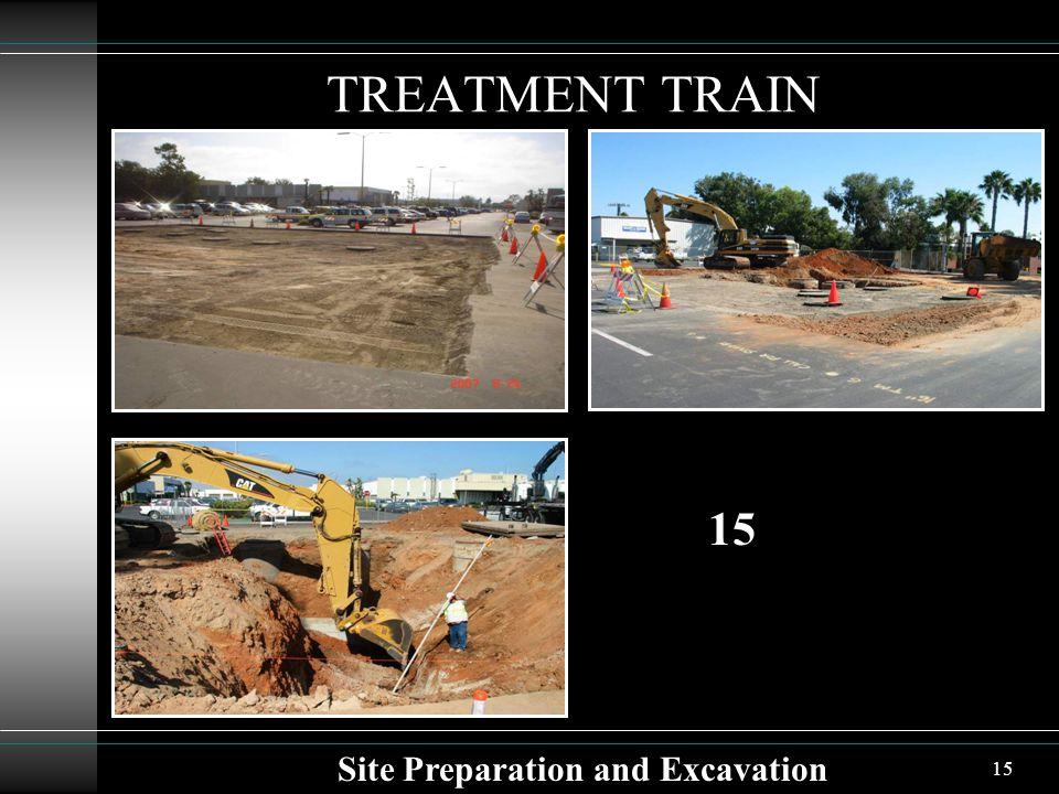 15 TREATMENT TRAIN Site Preparation and Excavation 15