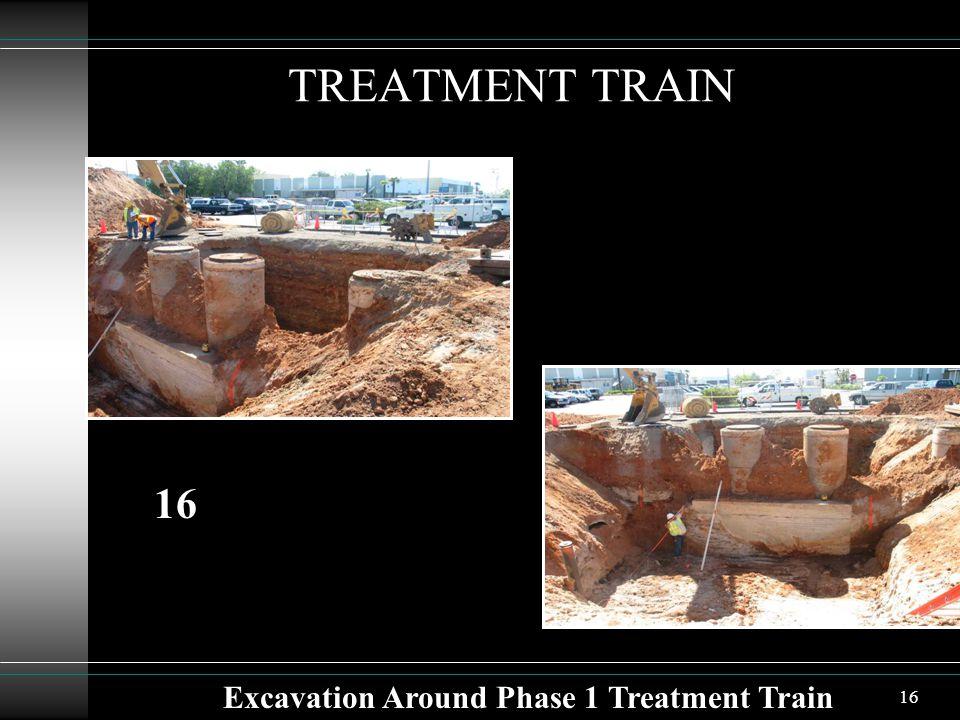 16 TREATMENT TRAIN Excavation Around Phase 1 Treatment Train 16