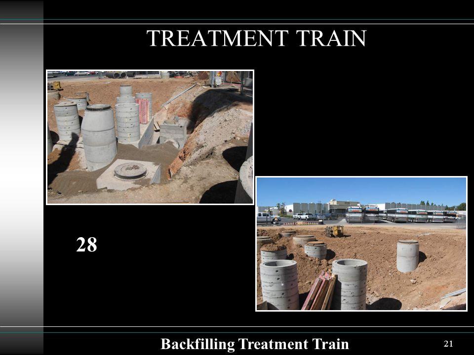 21 TREATMENT TRAIN Backfilling Treatment Train 28