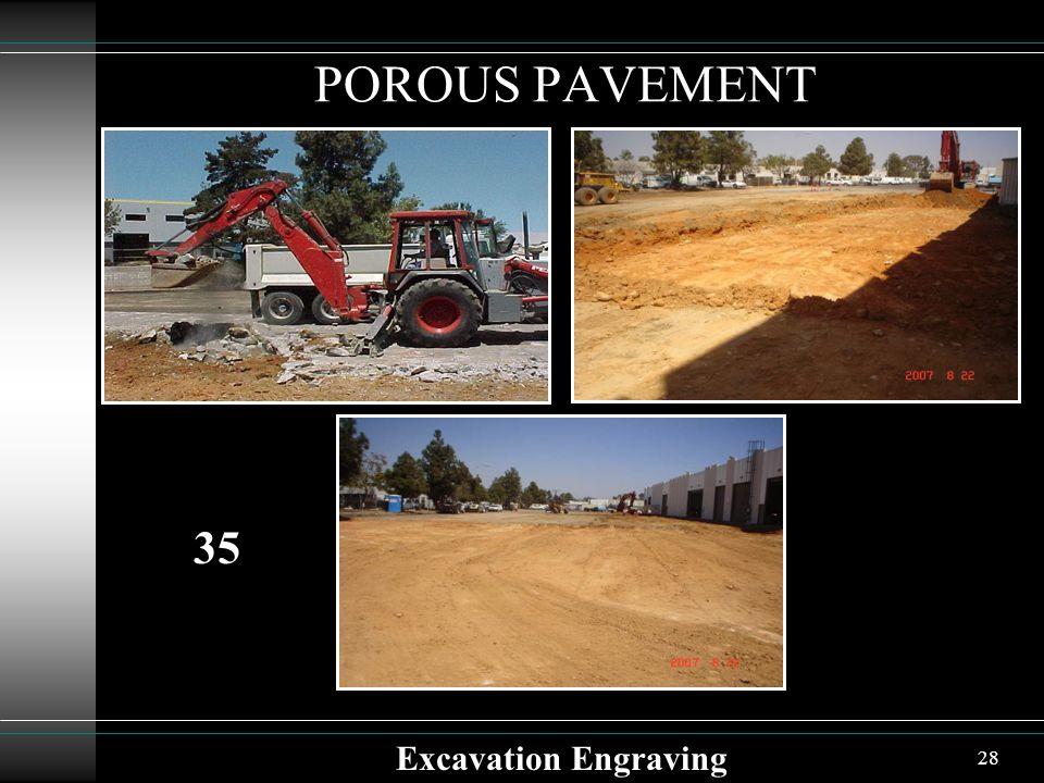 28 POROUS PAVEMENT Excavation Engraving 35