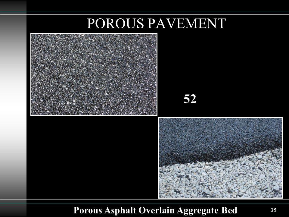 35 POROUS PAVEMENT Porous Asphalt Overlain Aggregate Bed 52