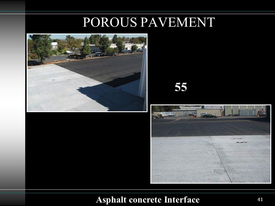 41 POROUS PAVEMENT Asphalt concrete Interface 55