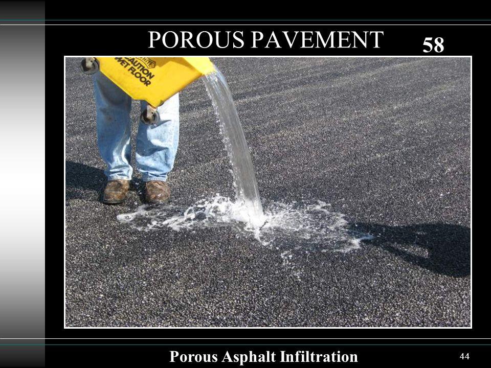 44 POROUS PAVEMENT Porous Asphalt Infiltration 58
