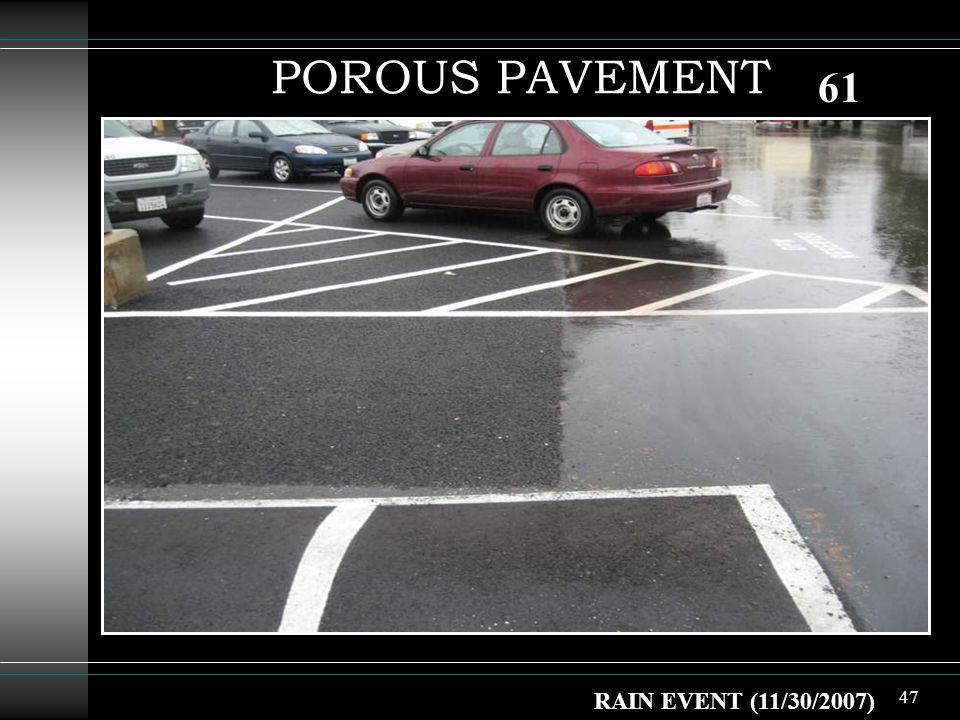 47 POROUS PAVEMENT RAIN EVENT (11/30/2007) 61