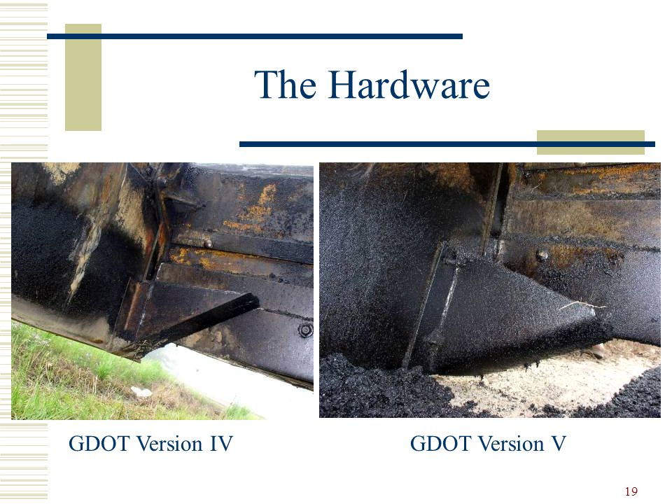 19 The Hardware GDOT Version IVGDOT Version V