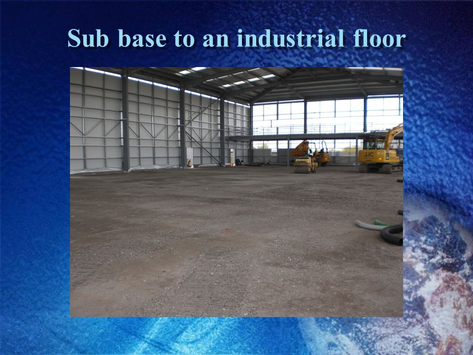 Sub base to an industrial floor