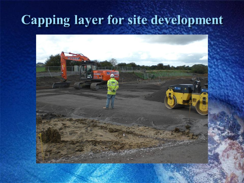 Capping layer for site development