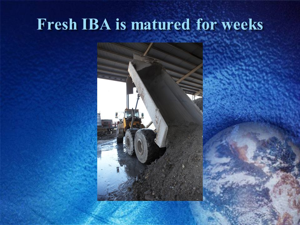 Fresh IBA is matured for weeks