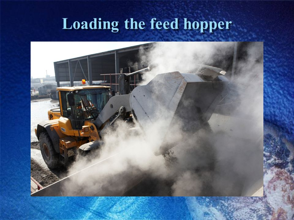 Loading the feed hopper