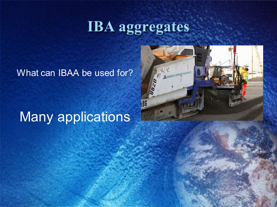 IBA aggregates What can IBAA be used for Many applications
