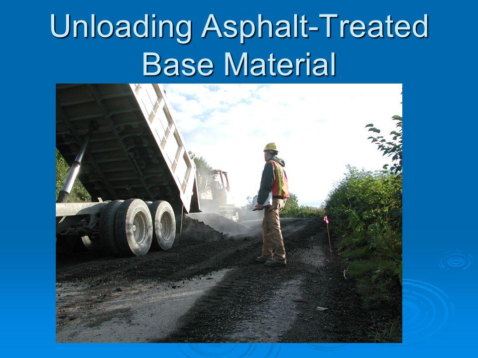 Unloading Asphalt-Treated Base Material