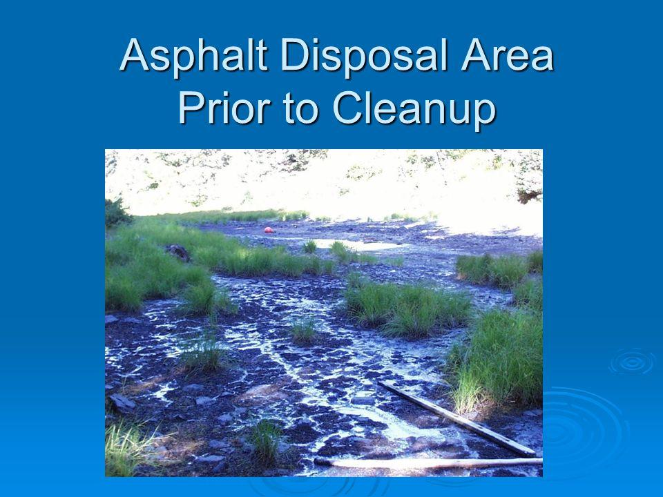 Asphalt Disposal Area Prior to Cleanup