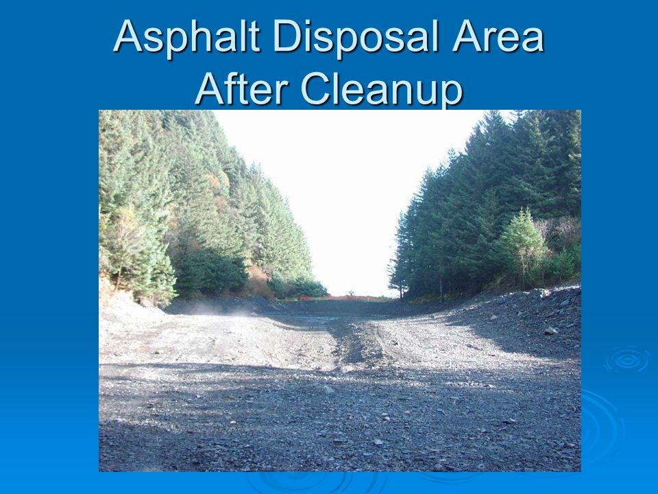Asphalt Disposal Area After Cleanup