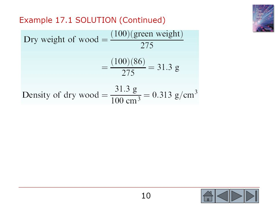 10 Example 17.1 SOLUTION (Continued)