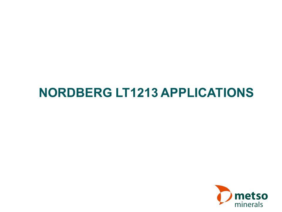 NORDBERG LT1213 APPLICATIONS