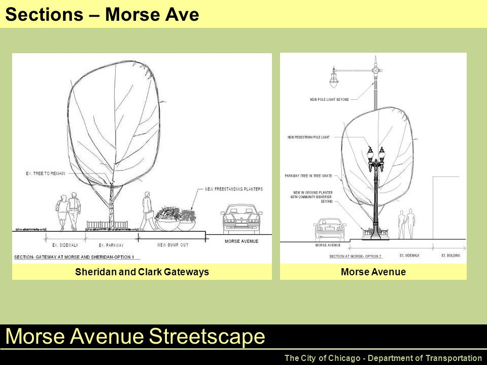Morse Avenue Streetscape The City of Chicago - Department of Transportation Sections – Morse Ave Sheridan and Clark GatewaysMorse Avenue