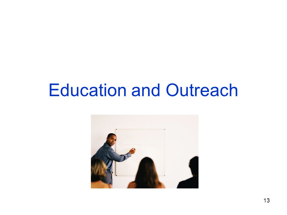 13 Education and Outreach