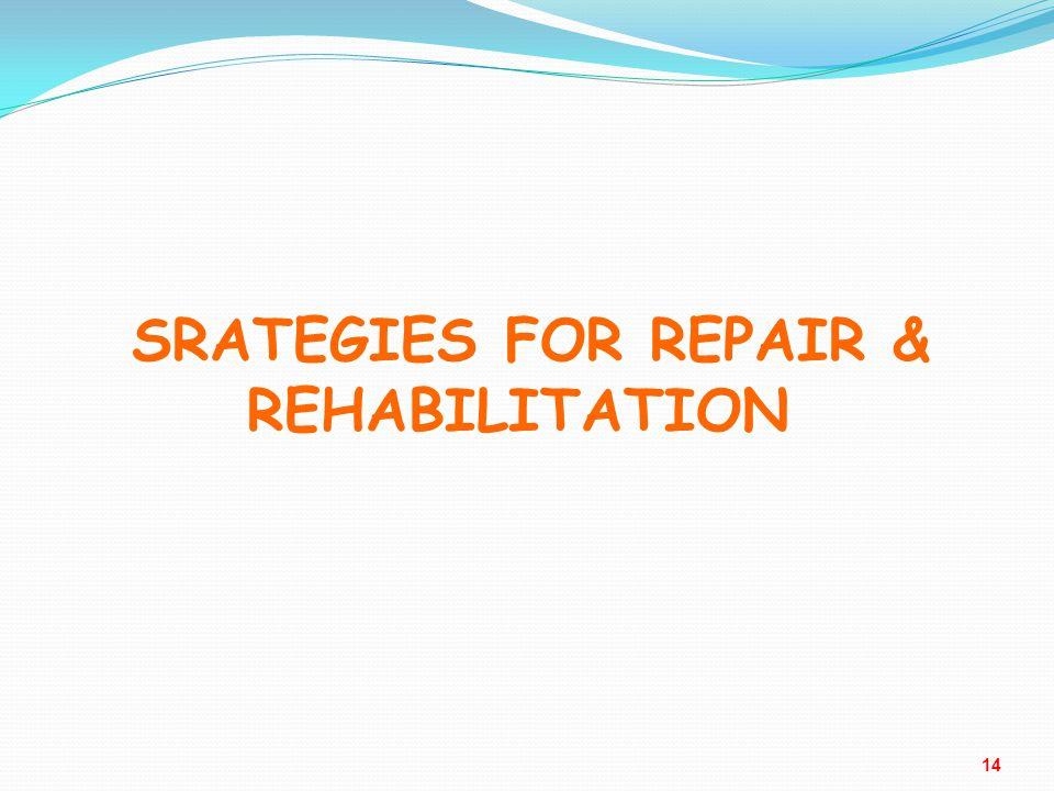 SRATEGIES FOR REPAIR & REHABILITATION SRATEGIES FOR REPAIR & REHABILITATION 14