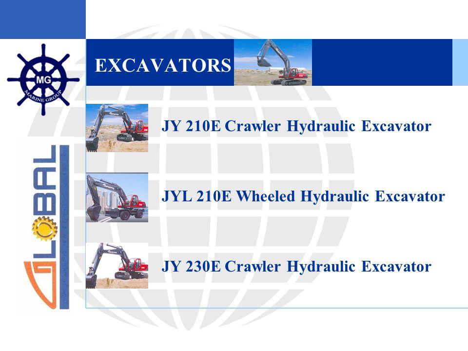 EXCAVATORS  JY 210E Crawler Hydraulic Excavator  JYL 210E Wheeled Hydraulic Excavator  JY 230E Crawler Hydraulic Excavator
