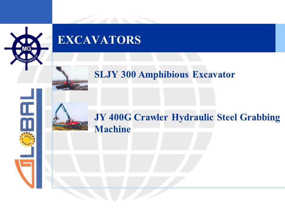 EXCAVATORS  SLJY 300 Amphibious Excavator  JY 400G Crawler Hydraulic Steel Grabbing Machine