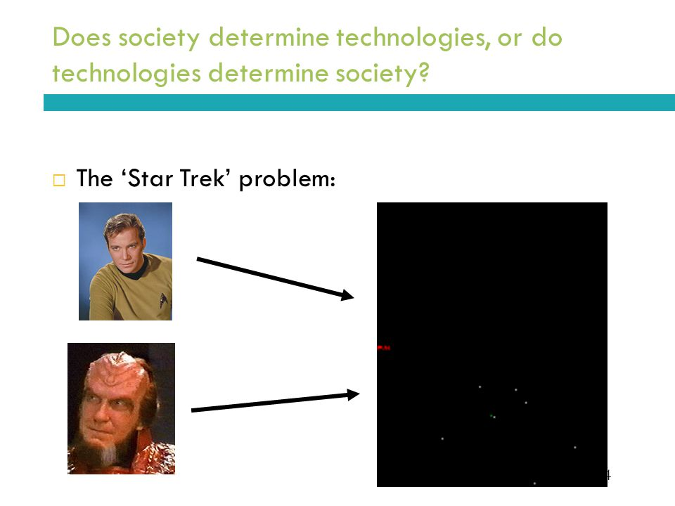 4 Does society determine technologies, or do technologies determine society.