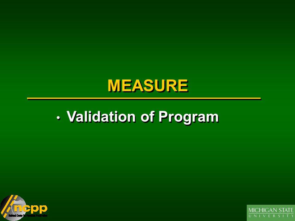 MEASURE Validation of Program