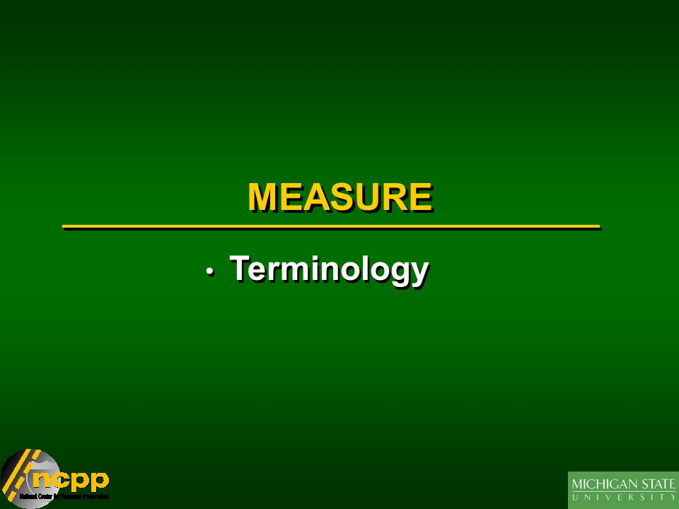 MEASURE Terminology