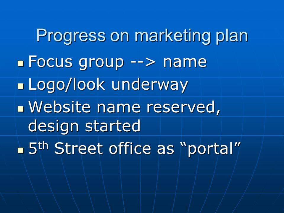 2. Develop the marketing plan. Program Implementation