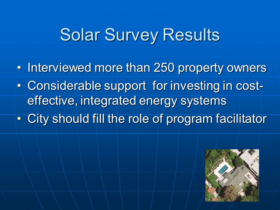 Solar Study Results 24 million sq.ft. total usable roof area for solar24 million sq.ft.