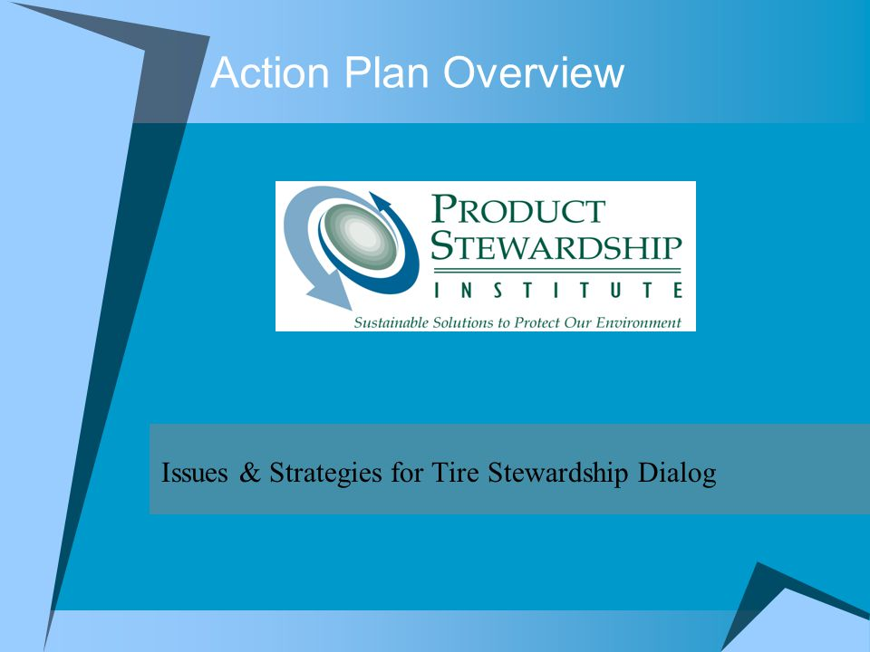 Action Plan Overview Issues & Strategies for Tire Stewardship Dialog