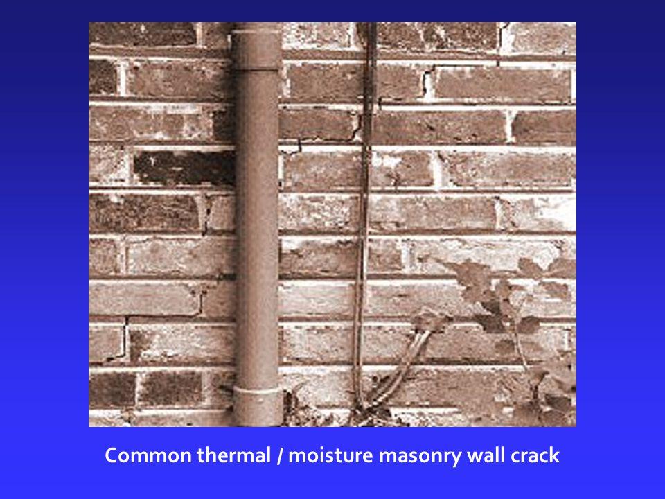 Common thermal / moisture masonry wall crack