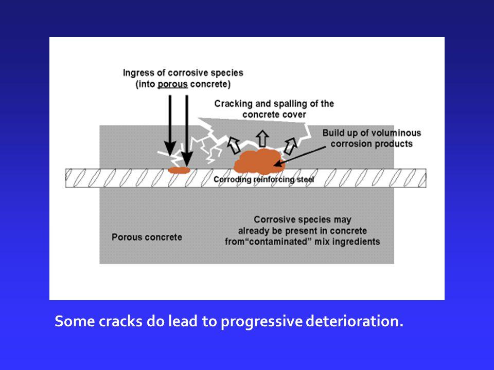 Some cracks do lead to progressive deterioration.