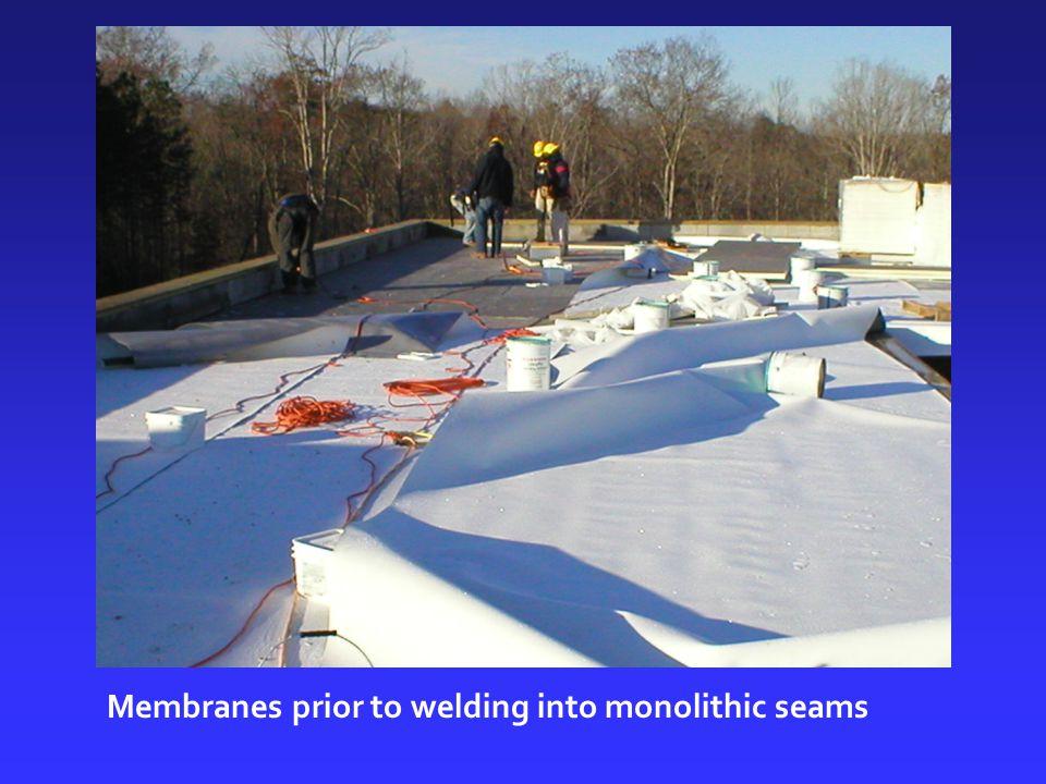 Membranes prior to welding into monolithic seams