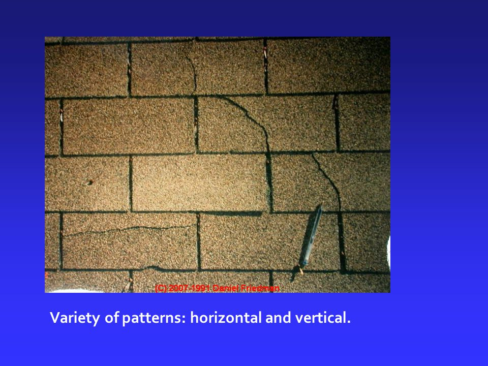 Variety of patterns: horizontal and vertical.