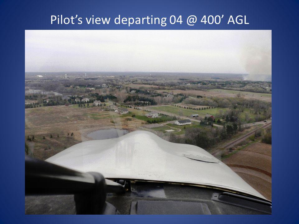 Pilot's view departing 04 @ 200' AGL